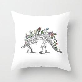 Stego-flora-saurus Throw Pillow