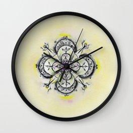 Painted mandala Wall Clock