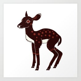 a Deer a Doe Art Print