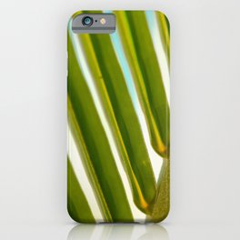 Palm Leaf Photo iPhone Case