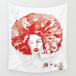 Mama Ru with a Huge Red Wig Wall Tapestry