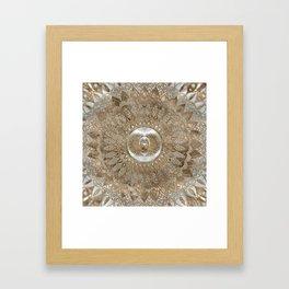 Egyptian Scarab Beetle Pastel Golds Framed Art Print