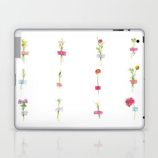 Watercolor Washi Tape Sprigs Laptop & iPad Skin