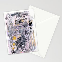 Abstrat Art gold pink Stationery Cards