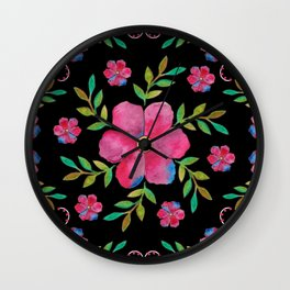 Flowers (pattern) Wall Clock