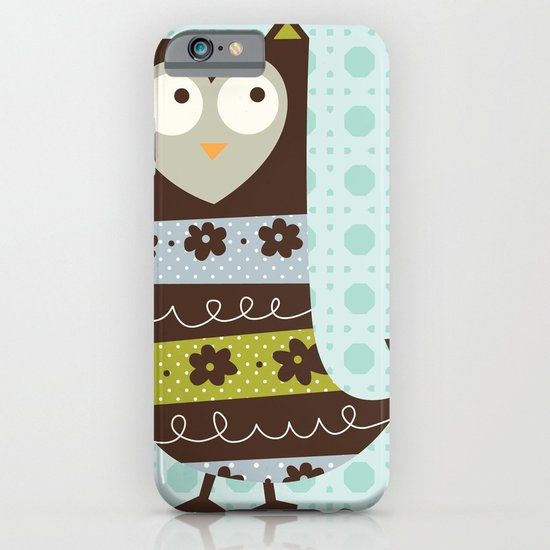 Brown Whimsy Owl iPhone & iPod Case