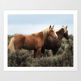 Palomino Buttes Herd - Wild Horses Art Print
