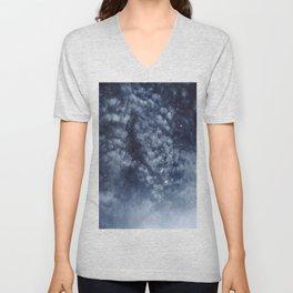 Blue veiled moon II Unisex V-Neck