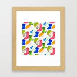 Gumboots and Puddles Framed Art Print