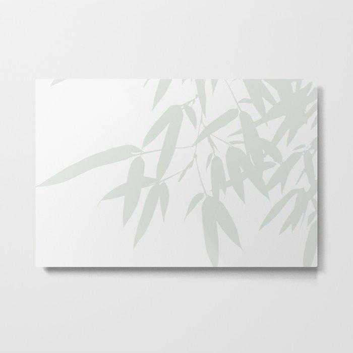Leaves #Bamboo #Grey Metal Print