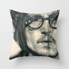Secret Window Traditional Portrait Print Throw Pillow