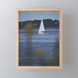 Sailboat In Maine Framed Mini Art Print