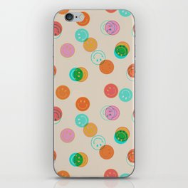 Smiley Face Stamp Print iPhone Skin