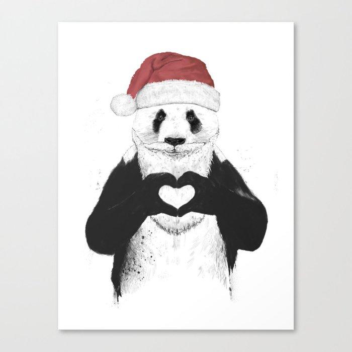 Santa panda Leinwanddruck