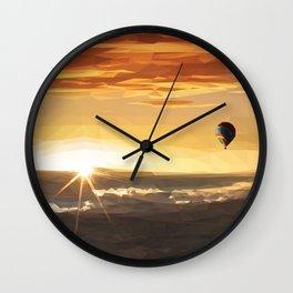 The Orange Adventurer - Sky & Balloon Wall Clock