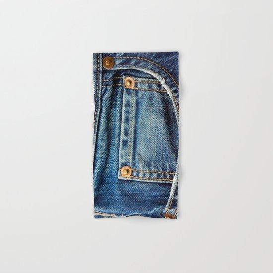 Texture #17 Jeans Hand & Bath Towel