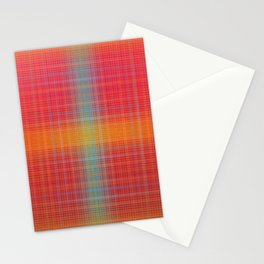 Red Glow Plaid  Stationery Cards