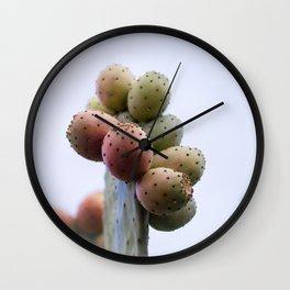 Prickly Pear Fruits Wall Clock