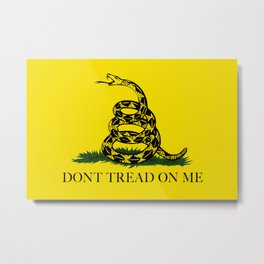 "Gadsden ""Don't Tread On Me"" Flag, High Quality image Metal Print"
