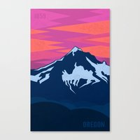 oregon Canvas Prints featuring Oregon by AtomicChild