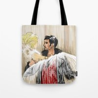 captain swan Tote Bags featuring Captain Swan dream by ChiaraG27