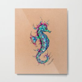 The Seahorse Metal Print