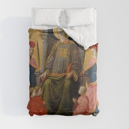 Fra Filippo Lippi - Saint Lawrence Enthroned with Saints and Donors Comforters