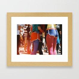 SF gay pride Framed Art Print