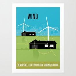 Renewable Electrification Administration - Wind Art Print