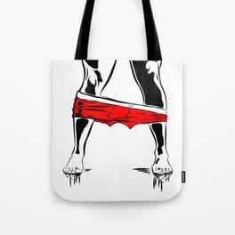 Pants Down Tote Bag