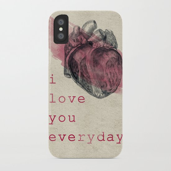 i_love_you_everyday iPhone Case