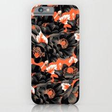 Mount Cook Lily - Orange/Black iPhone 6s Slim Case