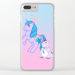 g1 my little pony Princess Sparkle and Spiny the dragon Clear iPhone Case