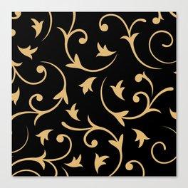 Baroque Design – Gold on Black Canvas Print