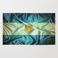 argentina Area & Throw Rugs featuring Argentina flag. by DesignAstur