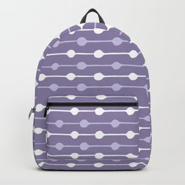 Dots Stripes Ultraviolet Backpack