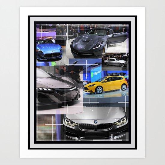 Auto Show Detroit MI Art Print