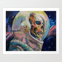 astronaut Art Prints featuring Astronaut by Michael Creese