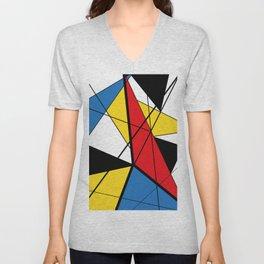 Mondrian Art Unisex V-Neck