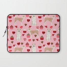 Akita valentines day cupcakes dog breed hearts pet portrait akitas pet friendly Laptop Sleeve