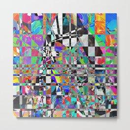 Mosaic Mountain Metal Print