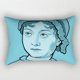 Jane Austen Blue Rectangular Pillow