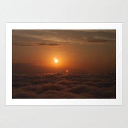 Three Sun SunSet Art Print