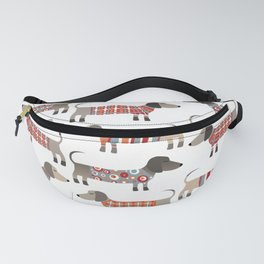 Sausage Dogs in Sweaters Fanny Pack