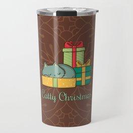 Catty Christmas Travel Mug
