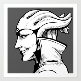 Aria - B&W profile Art Print