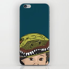 The Dino Helmet iPhone Skin
