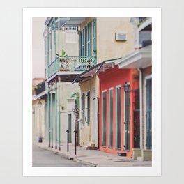A Walk through New Orleans Art Print