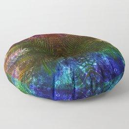 abstract fern Floor Pillow