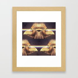 Bubonic Plague Mask Rays Framed Art Print